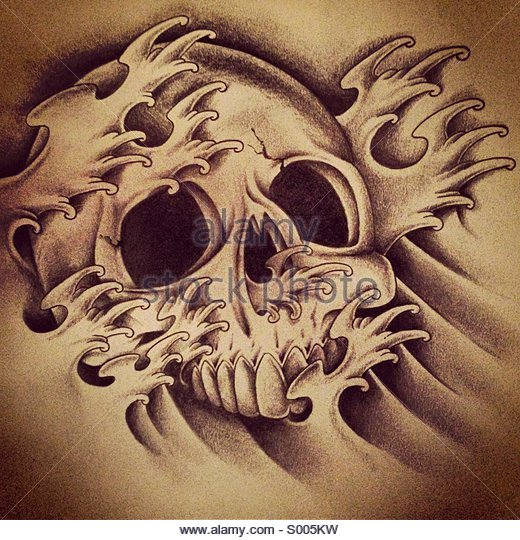 520x540 Skull Bones Tattoo Stock Photos Amp Skull Bones Tattoo Stock Images