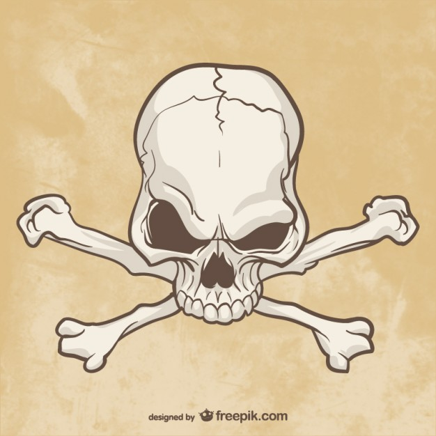 626x626 Skull And Bones Drawing Vector Free Download