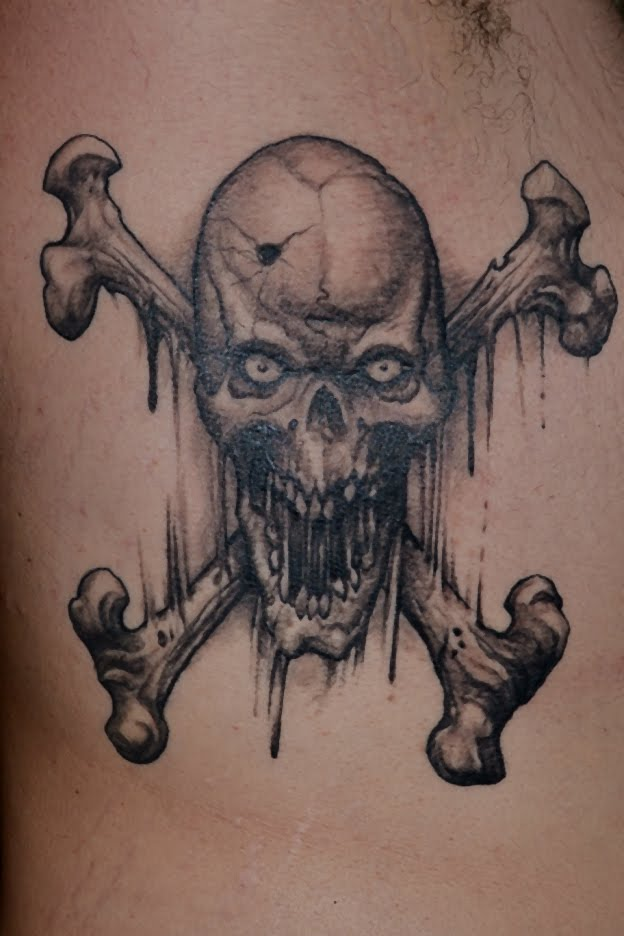 624x936 Tattoos By Scott Trerrotola Skull And Crossed Bones Tattoo