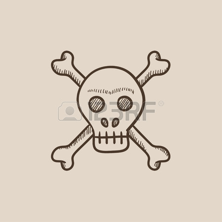 450x450 Skull And Cross Bones Vector Sketch Icon Isolated On Background