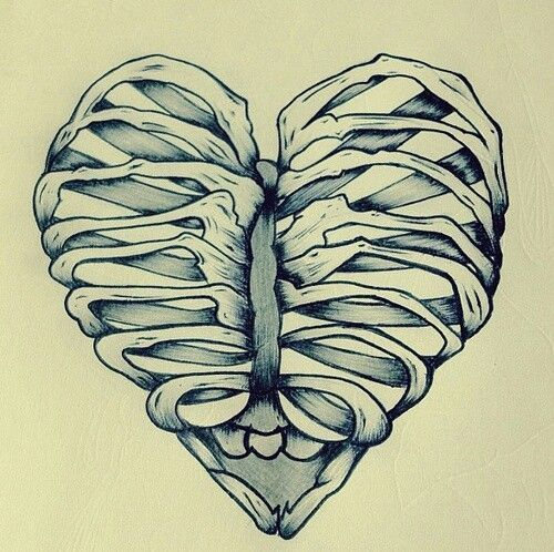 500x498 31 Best Human Heart And Skull Tattoos Images On Design