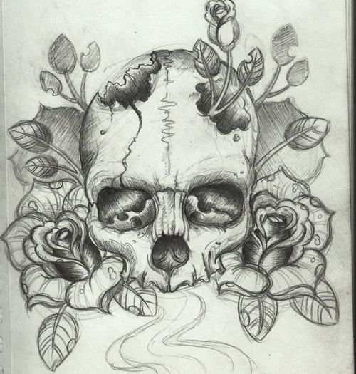 500x525 Image About Skull In Artsy By Vivica On We Heart It