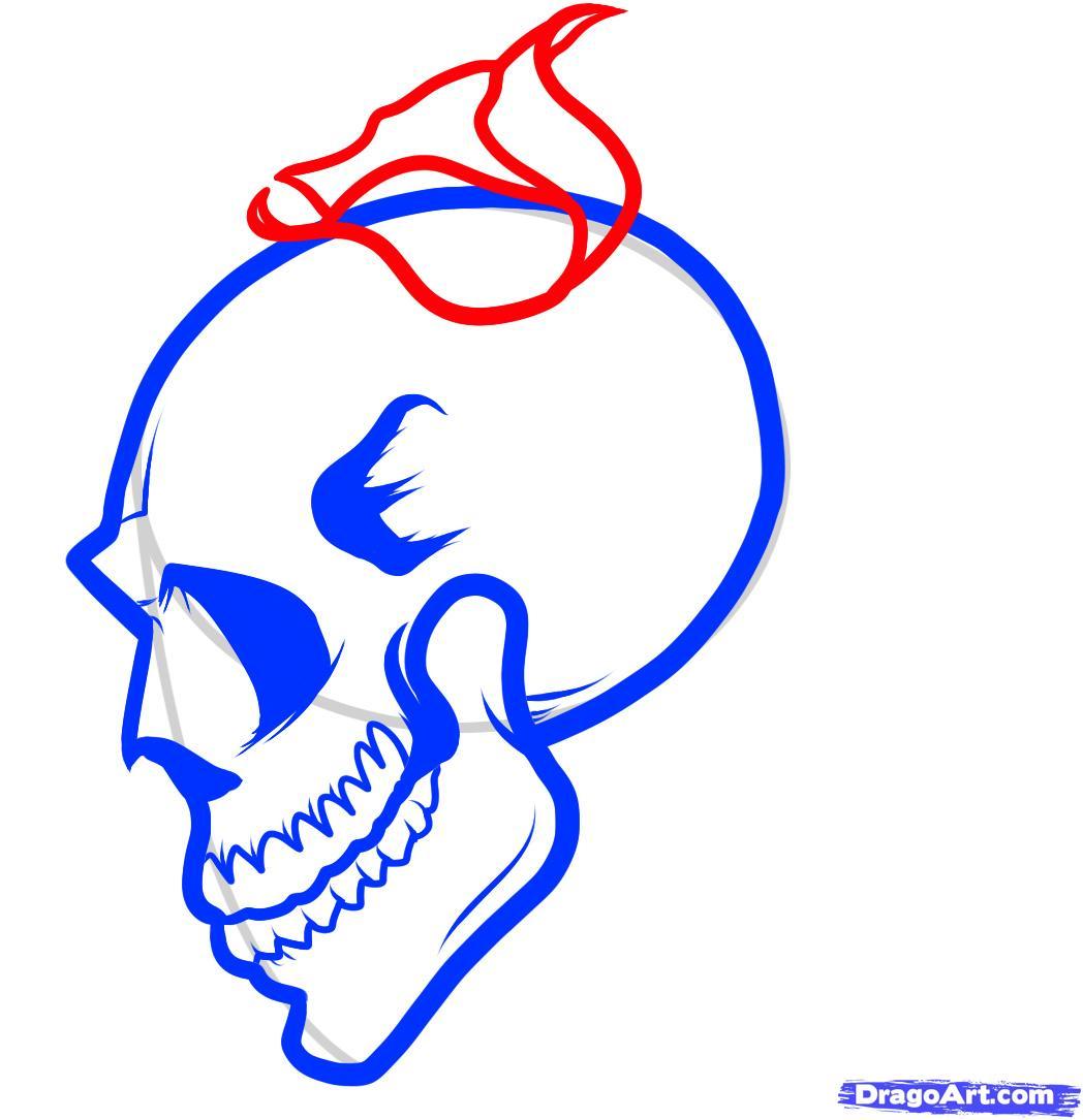 1048x1085 Skull Rose Drawing How To Draw A Skull Roses, Skull