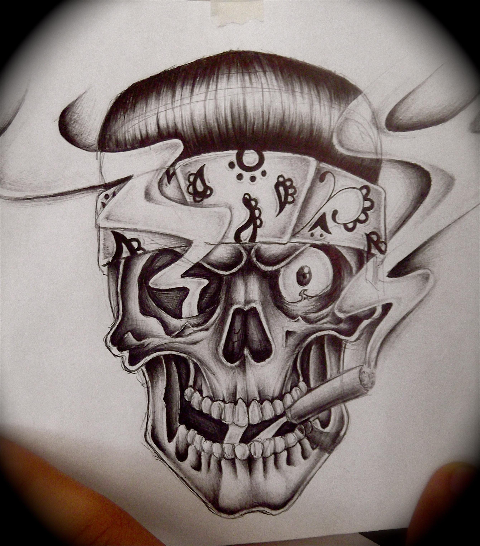 Skull Bandana Drawing At Getdrawings Com Free For Personal Use
