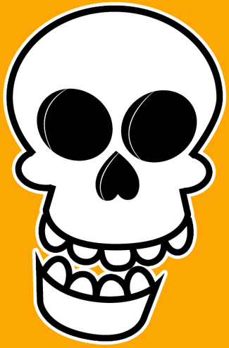 325x494 How To Draw An Easy Cartoon Skull For Halloween Step By Step