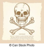180x195 Stamp Illustration Showing Danger Text And Skull Icon Vectors