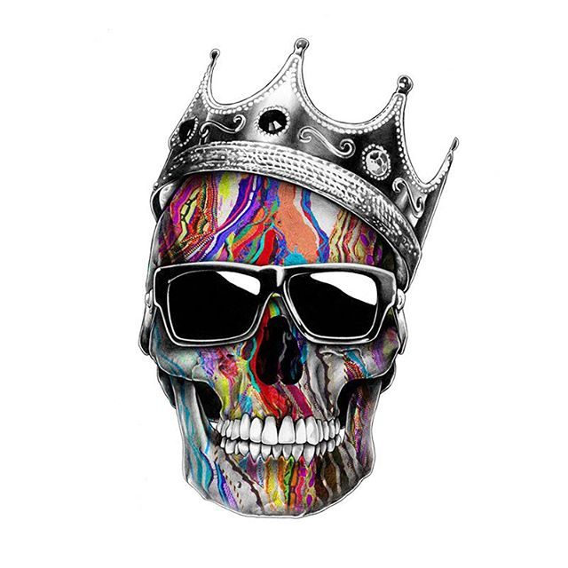 640x640 Swag Skull More Ink . Crown, Sketches And Drawings
