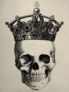 236x314 Top Drawing Of Skull With Crown Images for Pinterest Tattoos