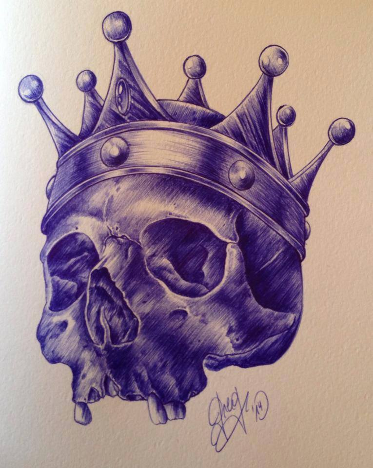 765x960 Skull Crown Couronne Dessin Sketch Drawing Croquis