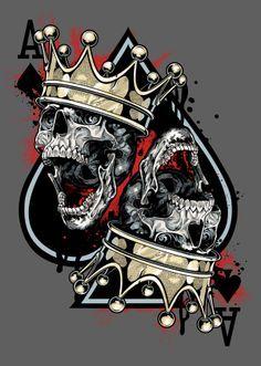 236x331 Vector King Skull Card