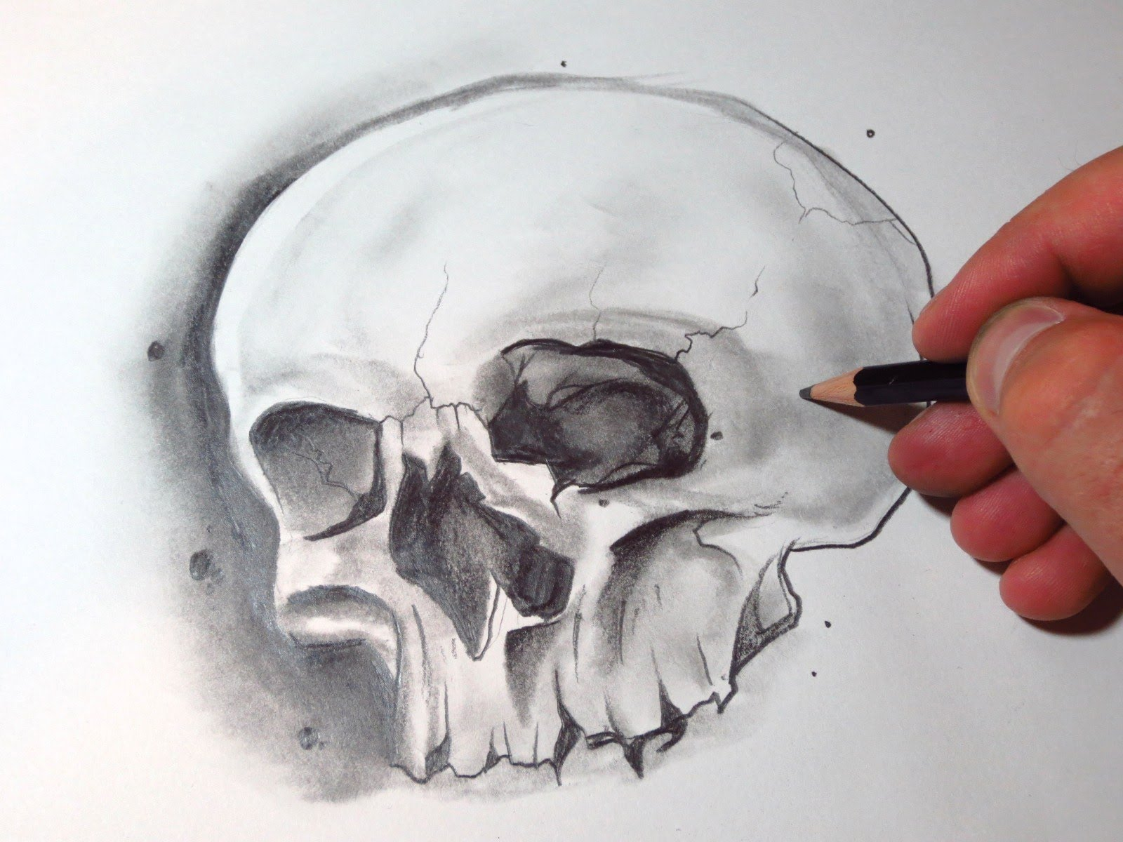 1600x1200 How To Draw A Skull