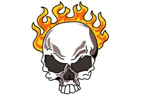 300x200 How To Draw A Skull On Fire