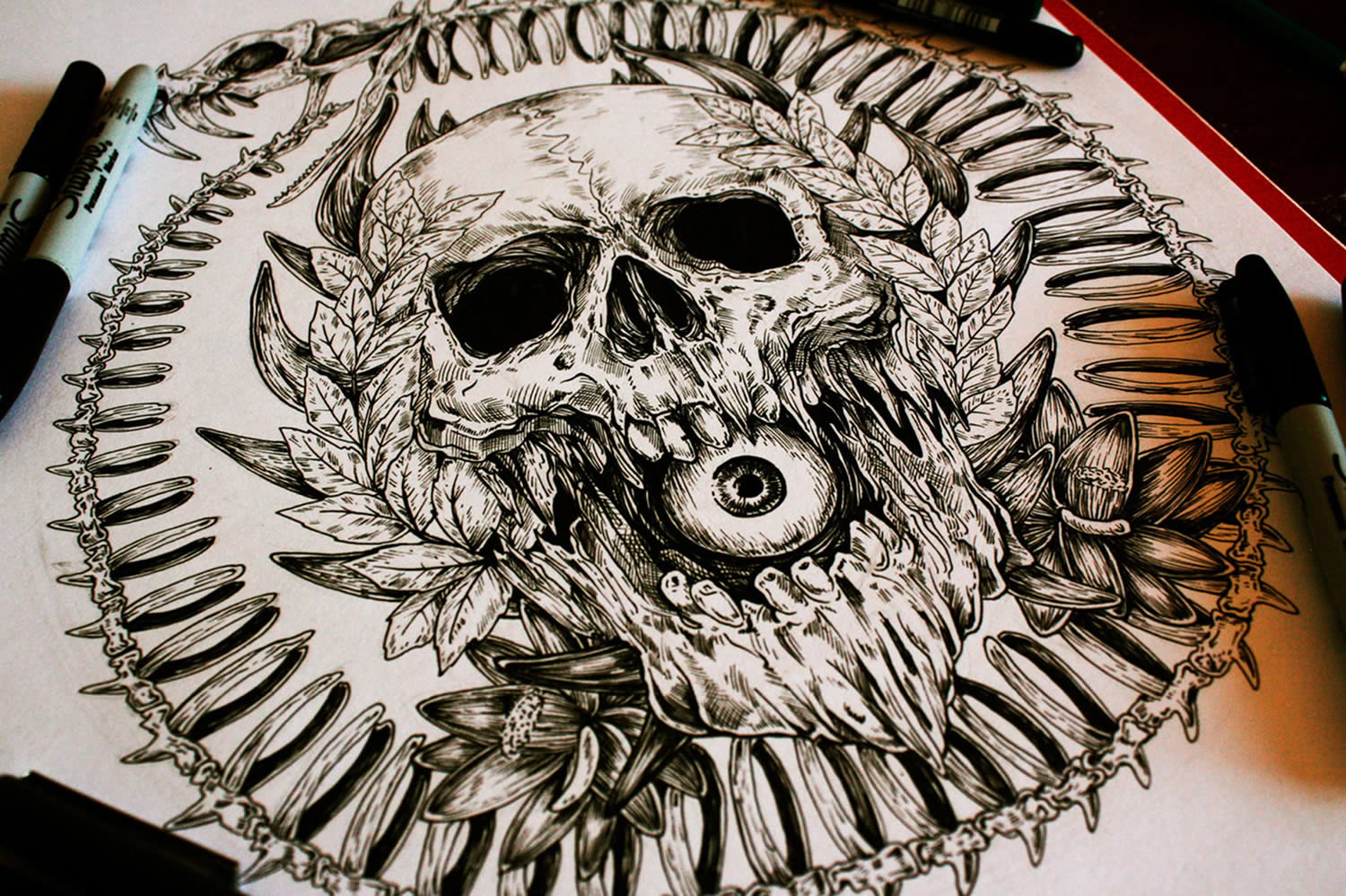 1500x999 Skull Drawings by a Man Called E. G. The Freak Scene360
