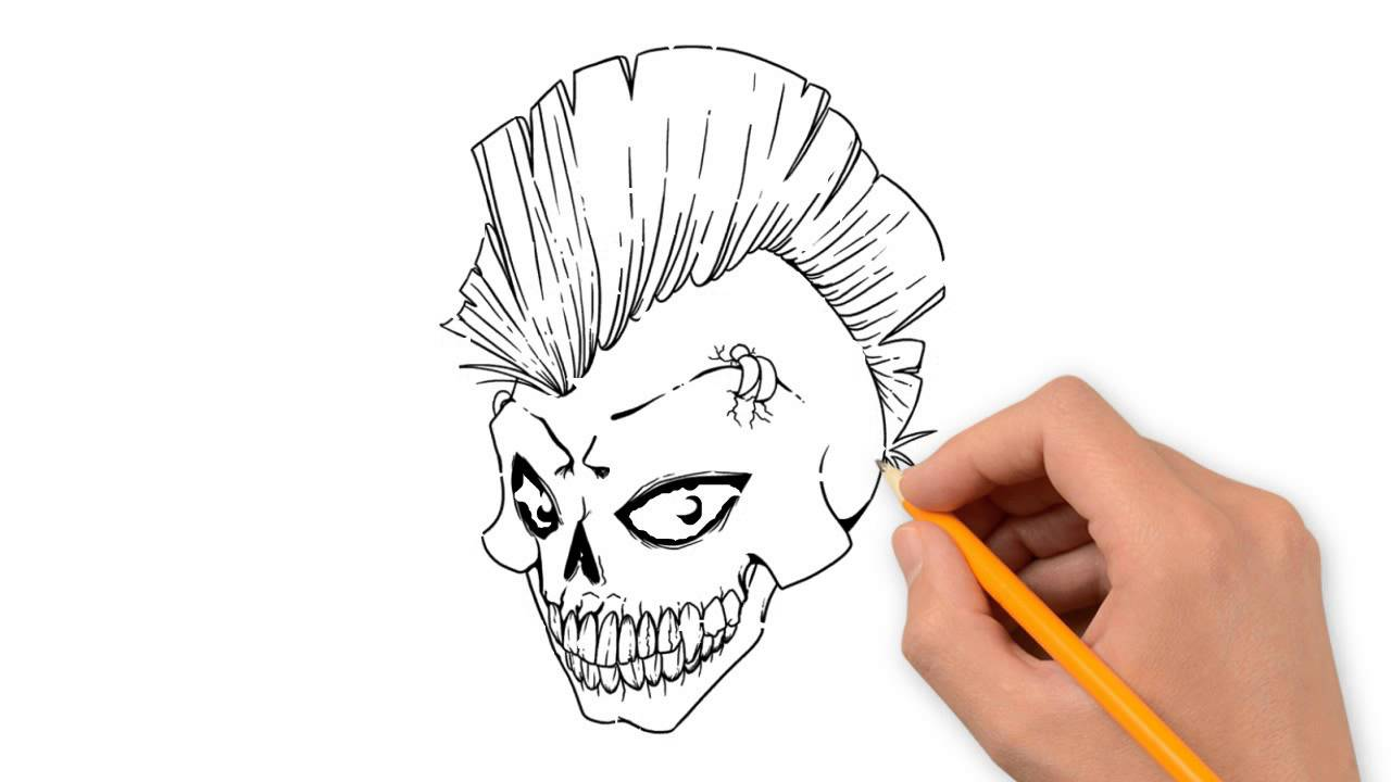 1280x720 Skull Pencil Things To Draw Step By Step