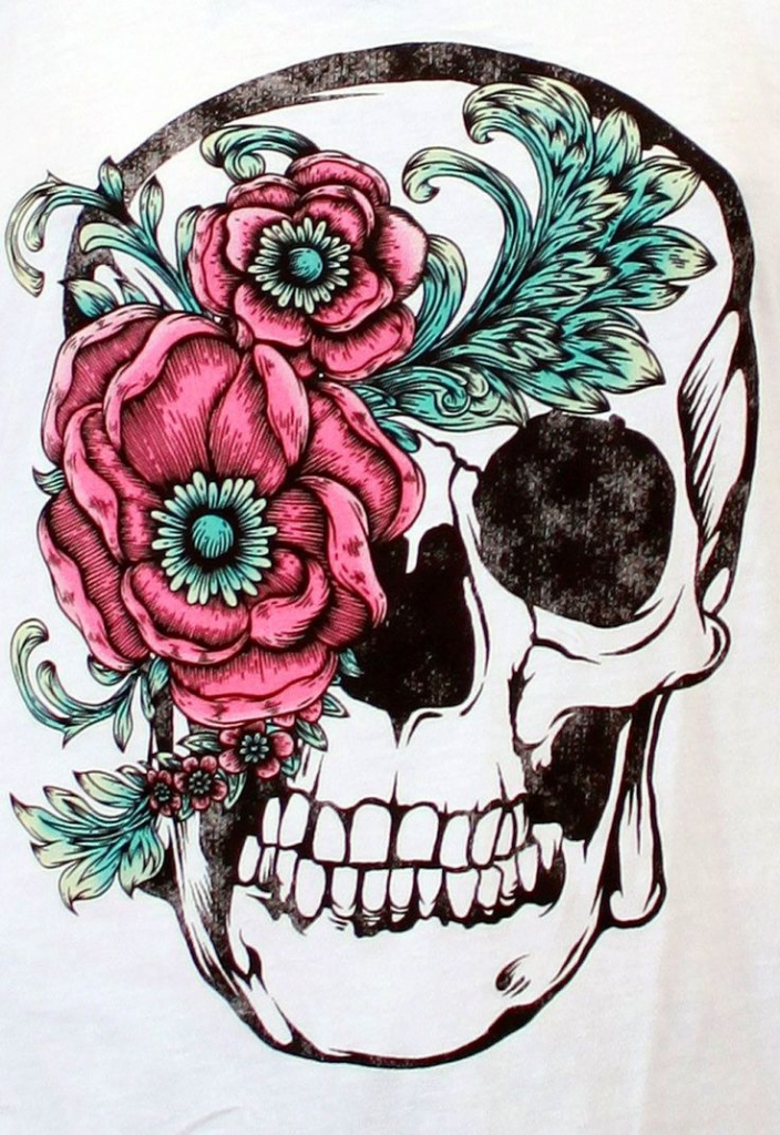 704x1024 Flower Skull Drawing Tumblr Images About Oldies Drawing