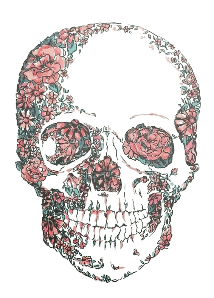 718x1000 Tumblr Skull By Cecilemtx Redbubble
