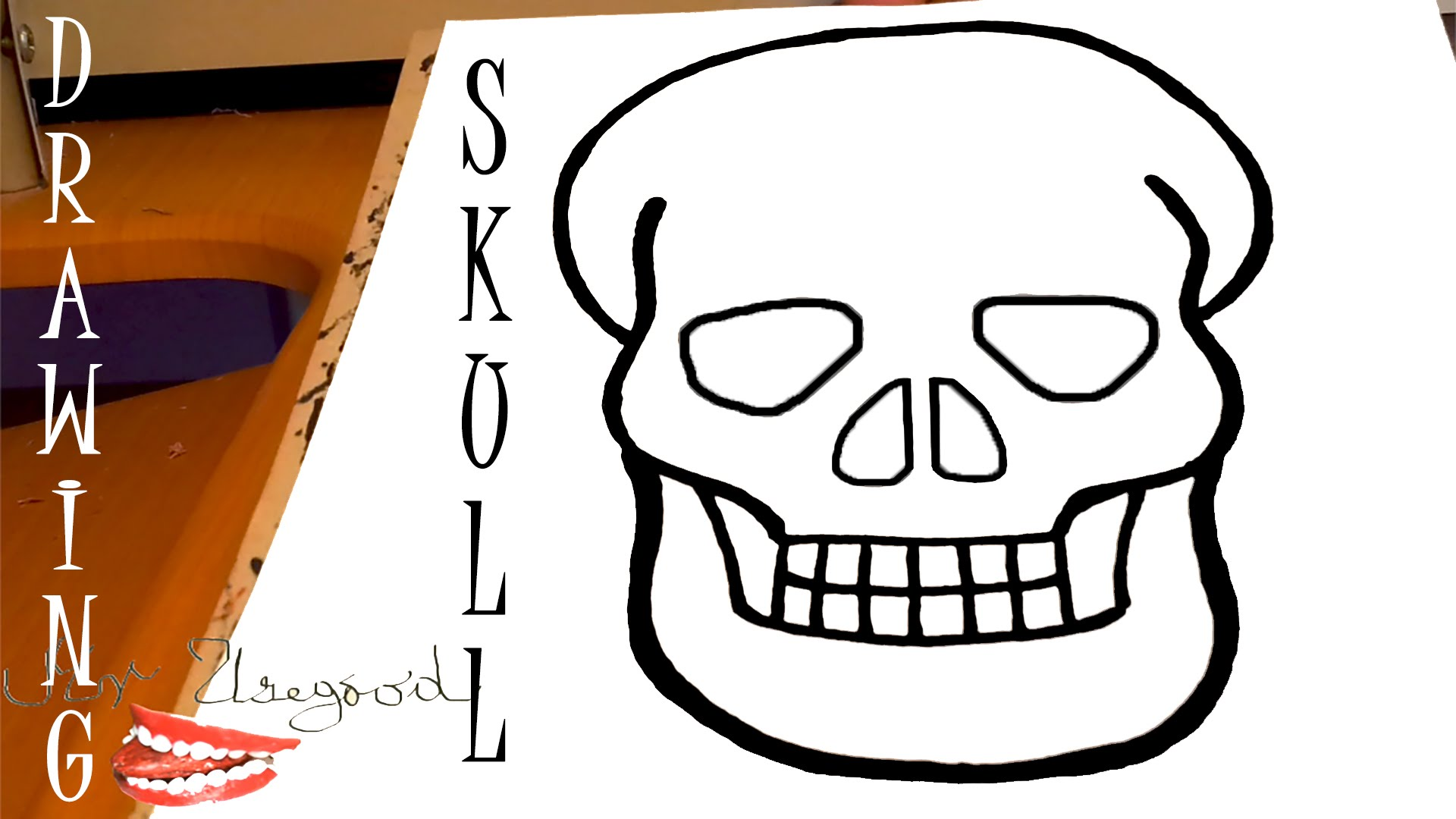 1920x1080 How To Draw A Skull Step By Step For Beginners Easy Tutorial