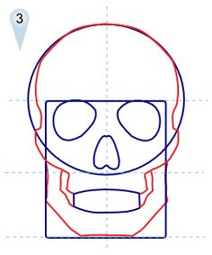 236x283 How To Draw A Human Skull Step By Step. Drawing Tutorials For Kids