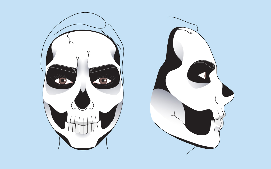 1025x641 Skeleton Makeup Tutorial Makeup
