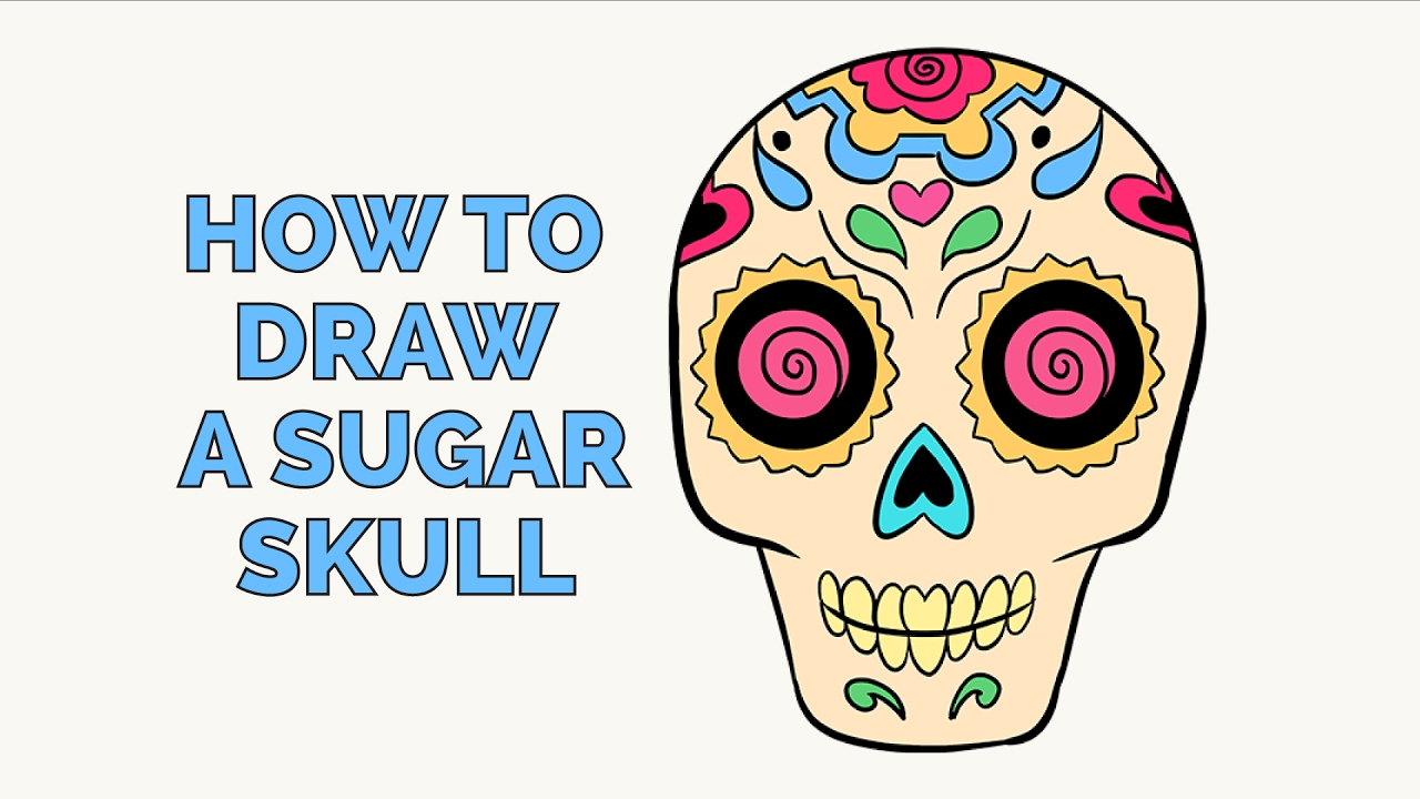 1280x720 Sugar Skulls Drawings How To Draw A Sugar Skull