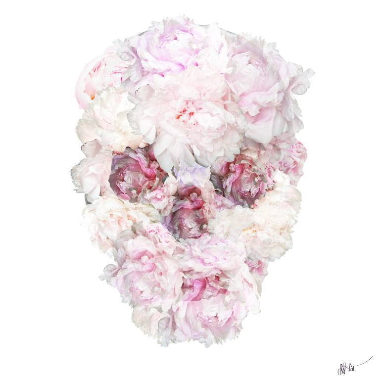 Skull flower drawing at getdrawings free for personal use 770x770 saatchi art peonies skull flower drawing by jessica rae sommer mightylinksfo