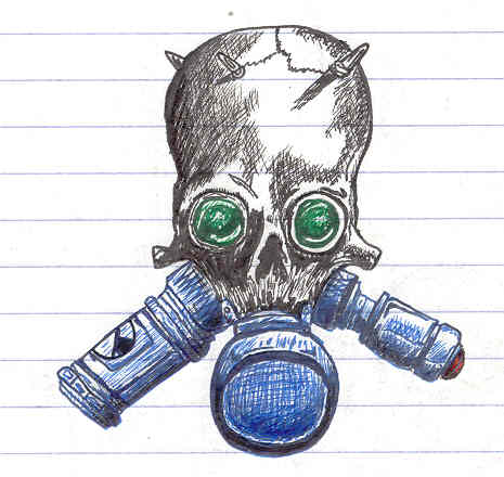 465x440 Gas Mask Skull By Votblindub On DeviantArt