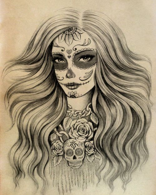 sugar girl Sexy designs skull tattoo