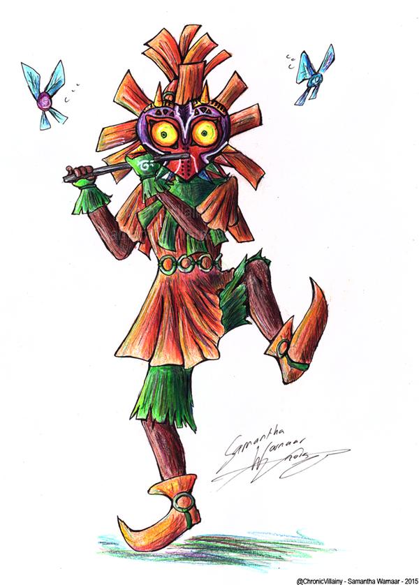 600x838 Majora's Mask] Skull Kid By Chronicvillainy