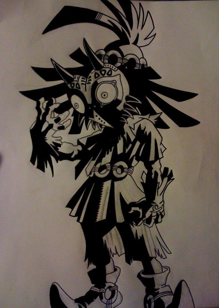 754x1060 Skull Kid By Kevbot117