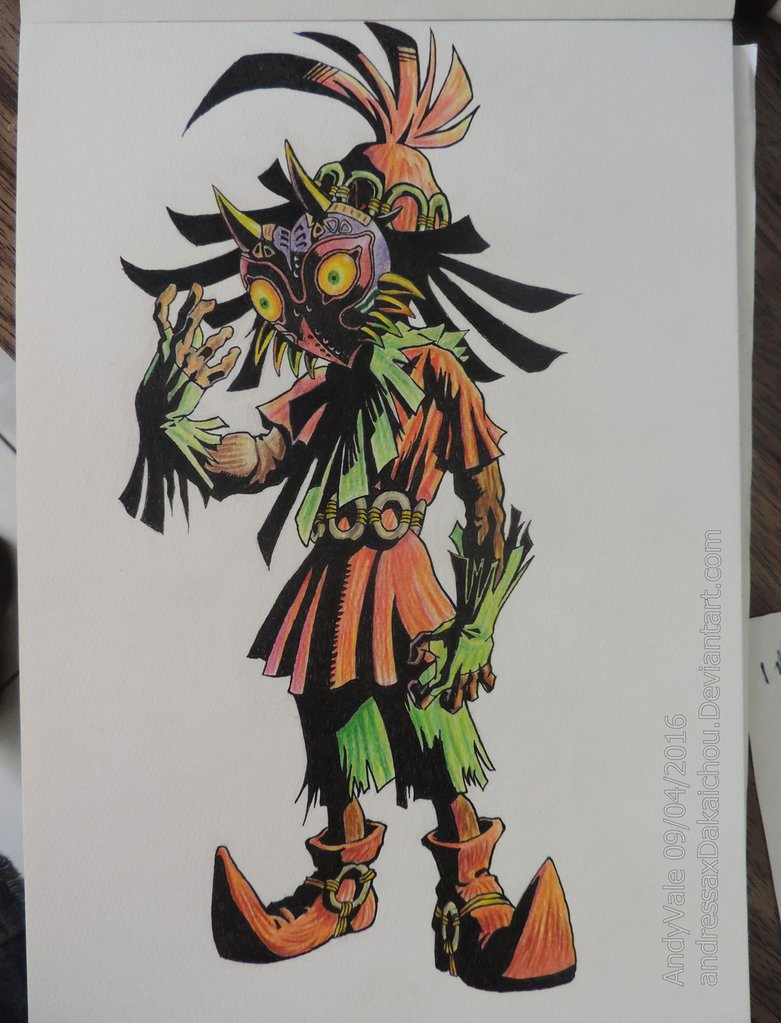 781x1023 Skull Kid Draw By Andressaxdakaichou