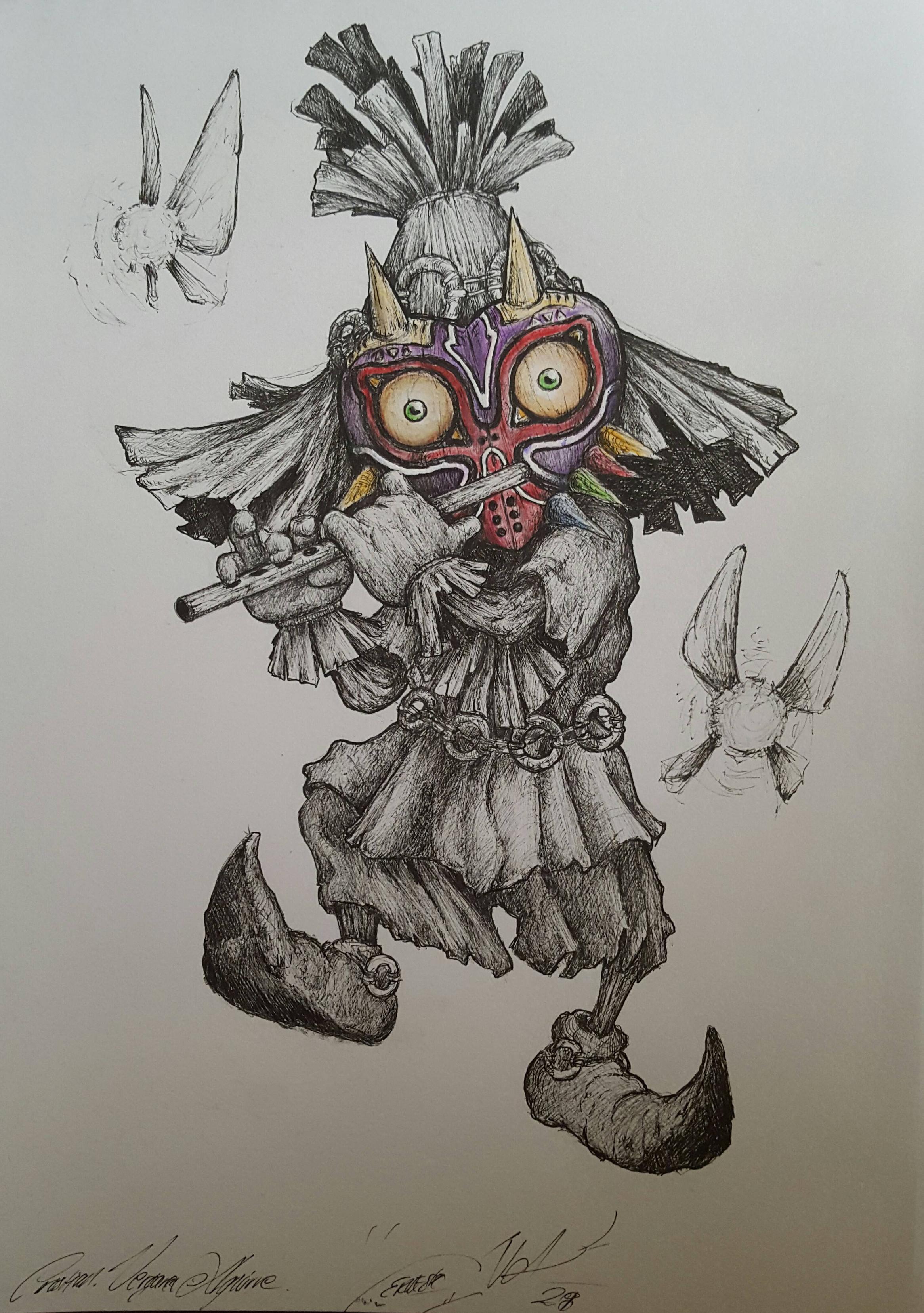 2332x3314 Told My Friend To Draw Skullkid
