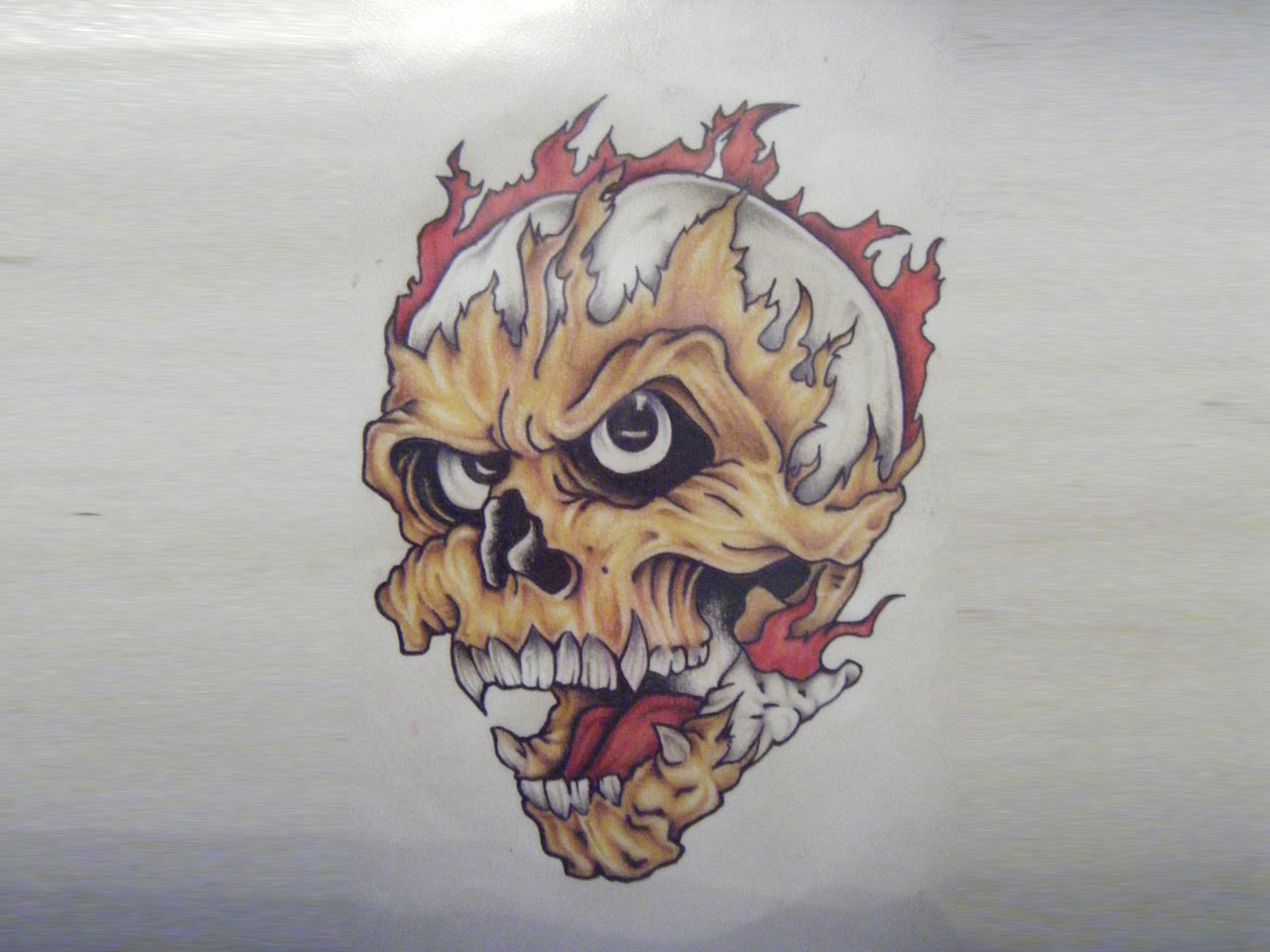 Skull on fire drawing at getdrawings free for personal use 1280x960 skull in fire tattoo design for bicep voltagebd Choice Image