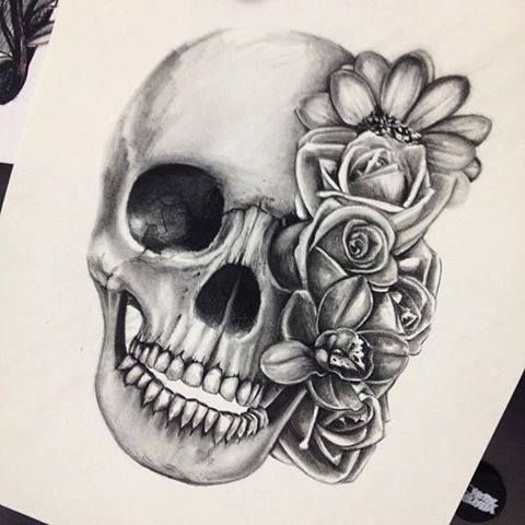 480x480 pictures of skulls with flowers best 25 skulls and roses ideas on