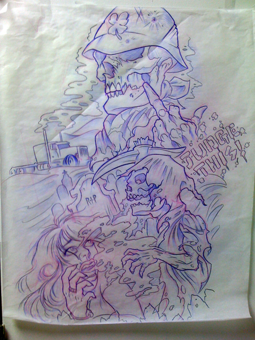Skull Sleeve Drawing At Getdrawings Com Free For Personal Use