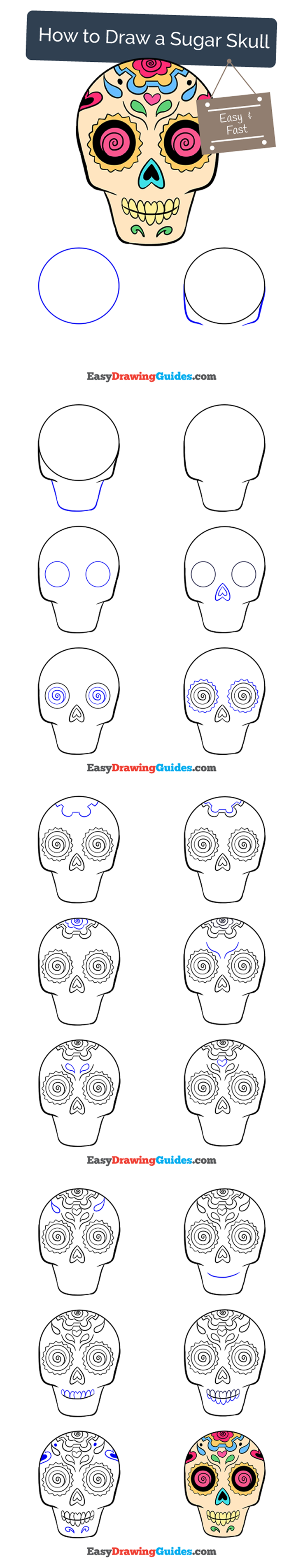 736x3812 How To Draw Sugar Skulls, A Drawing Tutorial For Kids And Adults