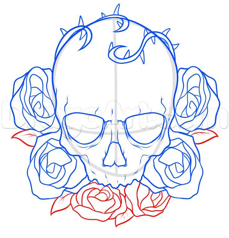 736x766 resultado de imagen para skull drawing tutorial skull pinterest