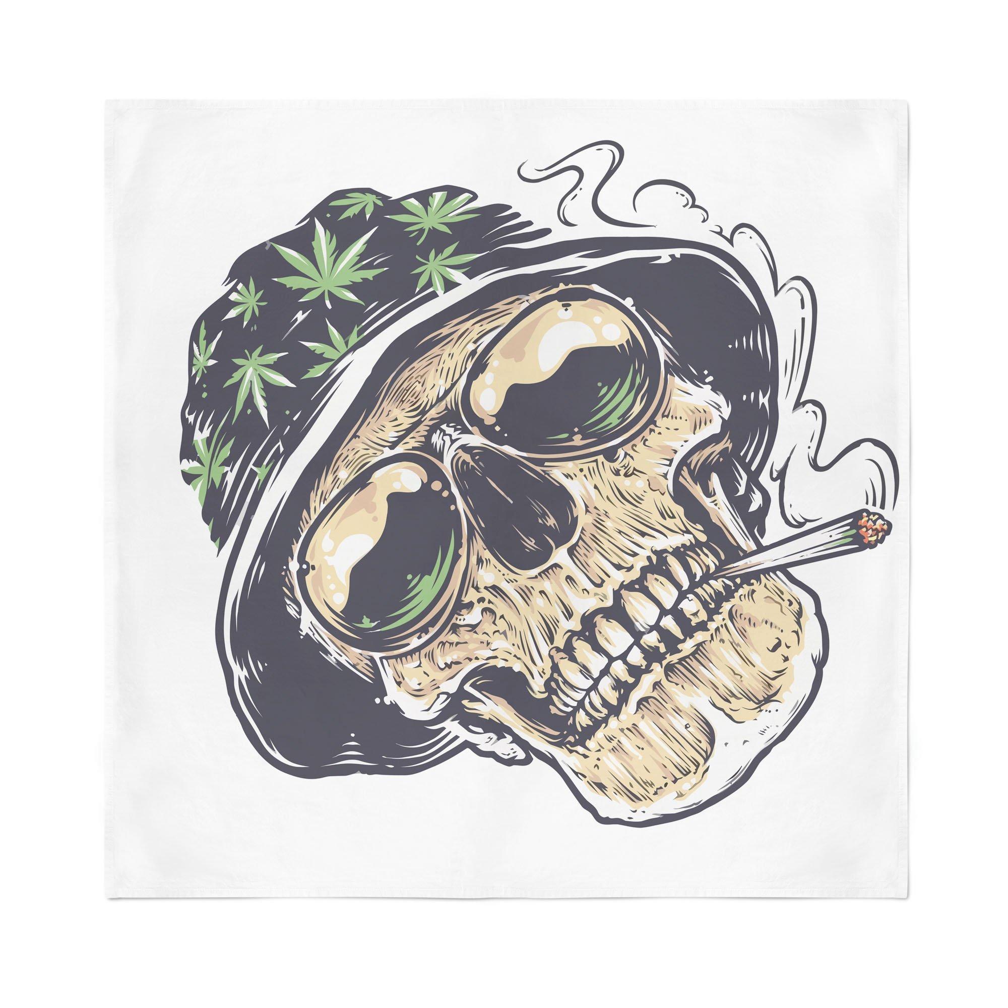 2000x2000 Dope Skull Bandana Rave Rebel