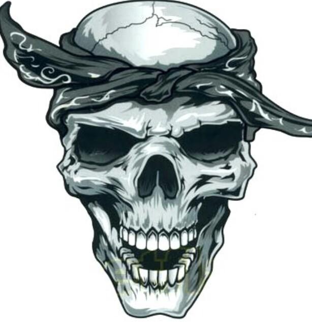 614x633 Skull With Bandana Skulls Amp Skeletons Bandanas