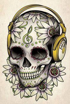 236x350 Music Skull Birthday Ideas Skeleton Art, Drawing