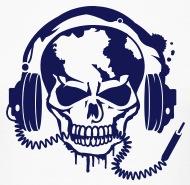190x185 Skull With Headphones. T Shirt Spreadshirt