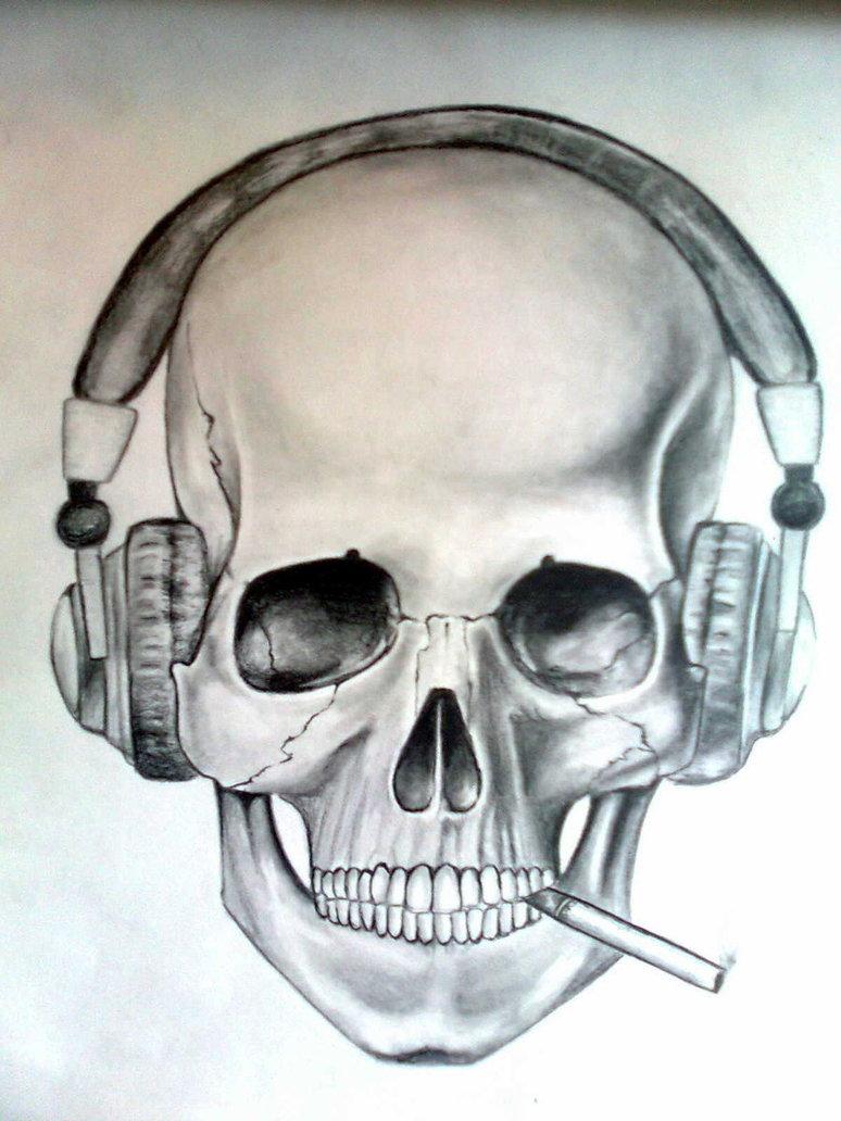 774x1032 Skull Headphones By Skrapfal