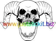 220x160 Hq Skull And Ram Horns (Bigal Concepts 202) Just Stick It Skulls