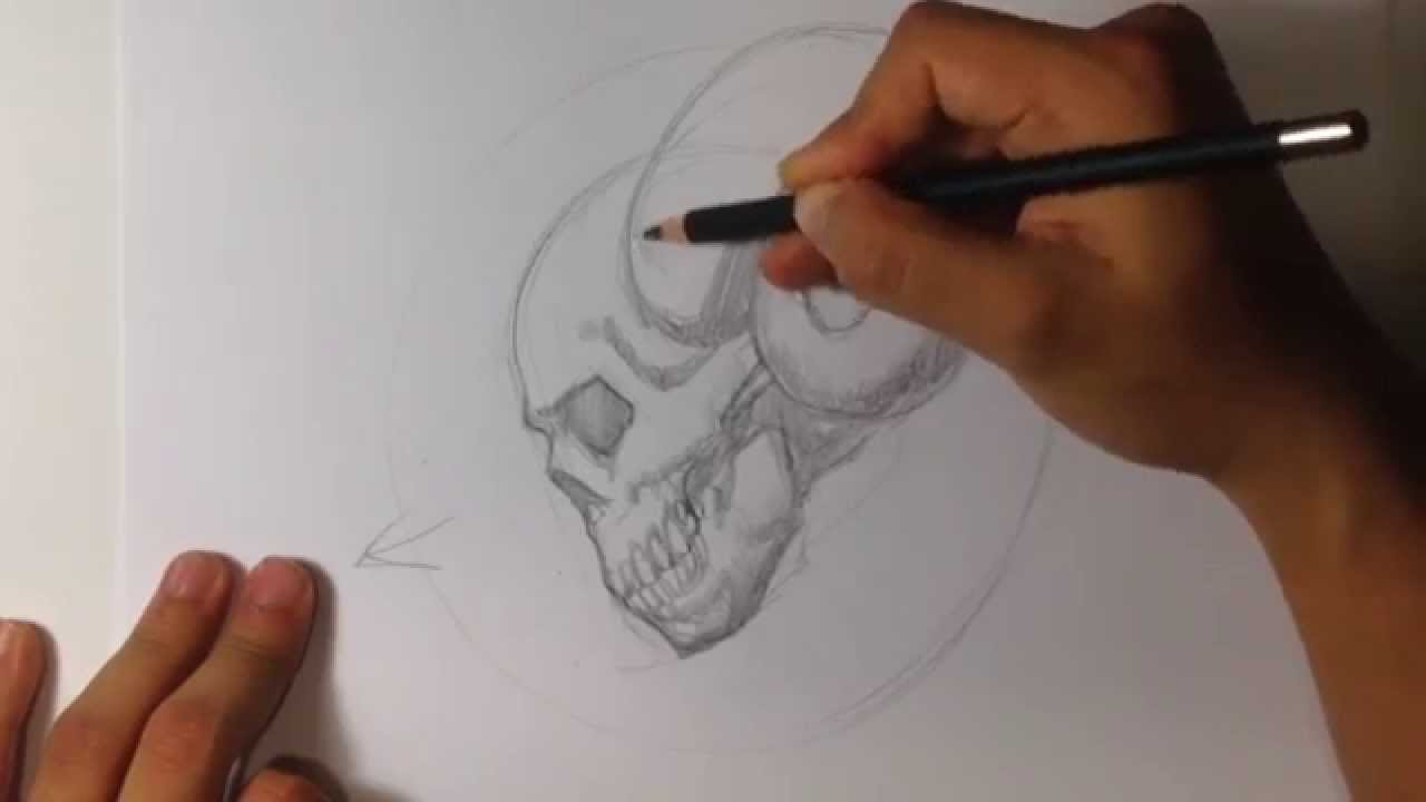 1280x720 How To Draw A Skull With Horns Tattoo