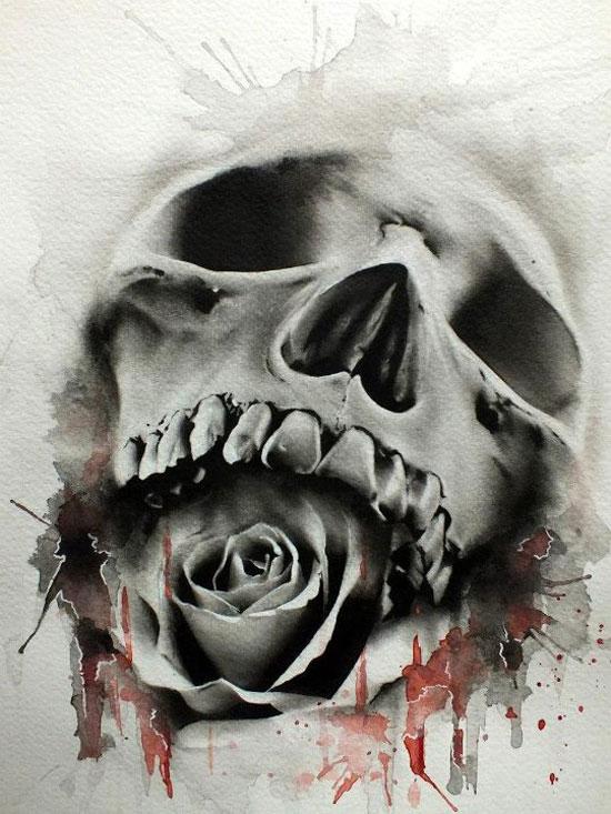 550x733 Fine Art Skulls By Glen Preece