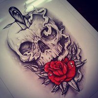 200x200 Skull Rose By Edwardmiller Skin Deep