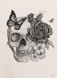 236x324 Skull And Flowers, Let Them Grow!