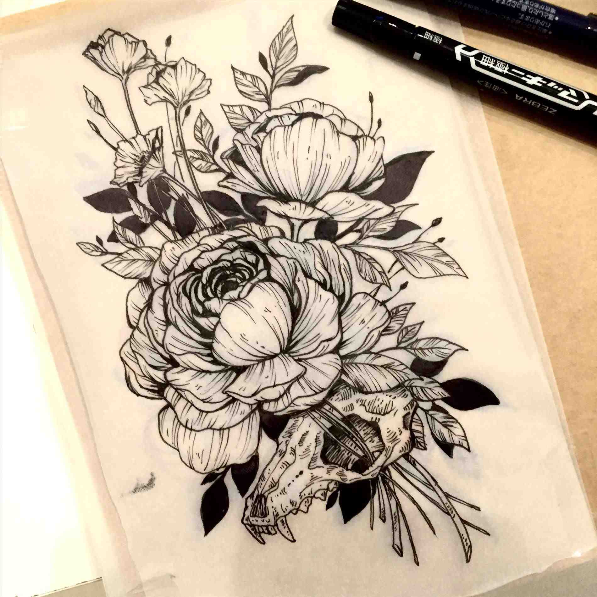 1899x1899 The Images Collection Of Skull Rose Drawing Easy