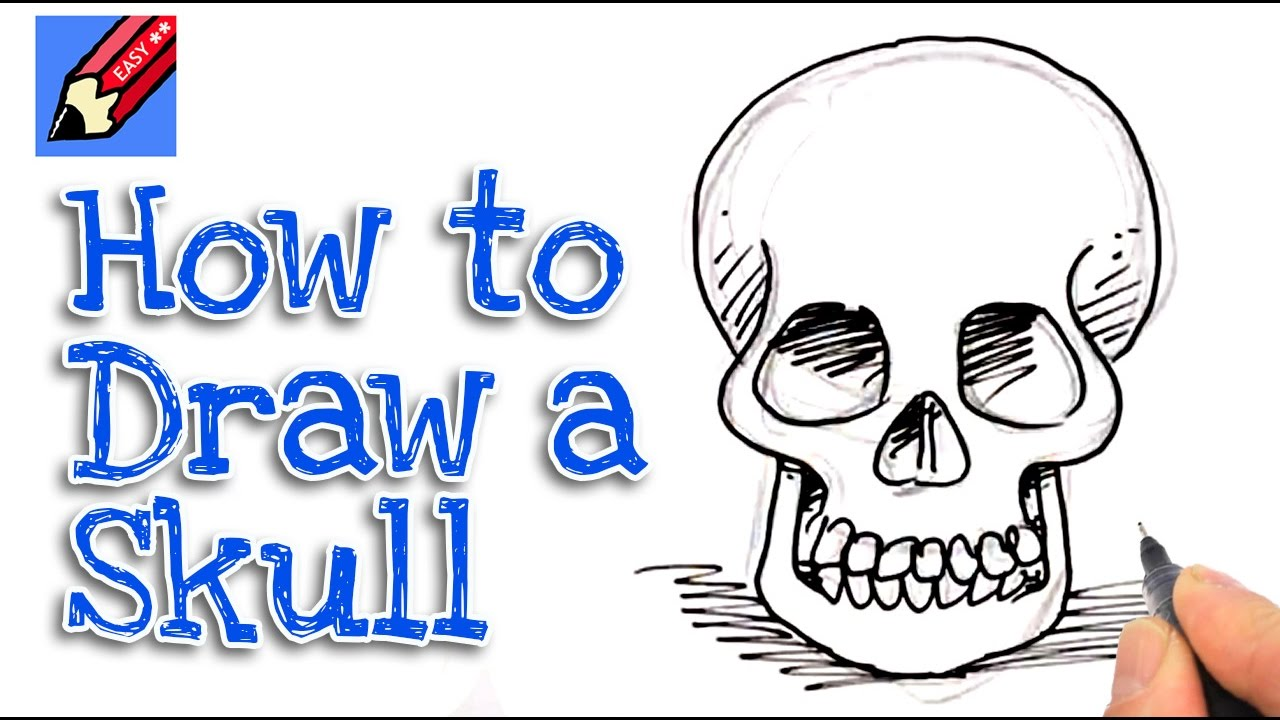 1280x720 Learn How To Draw A Skull From The Front Real Easy For Kids