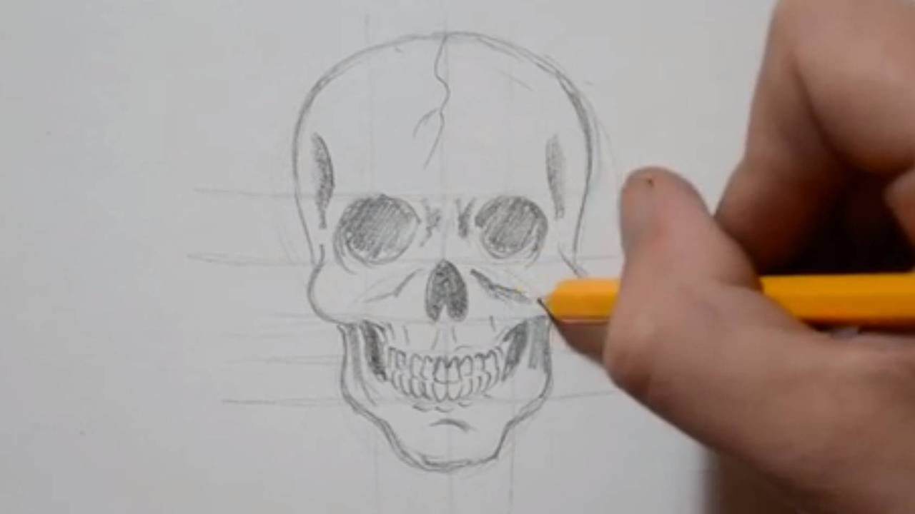 1280x720 How To Draw A Skull In Under 4 Minutes