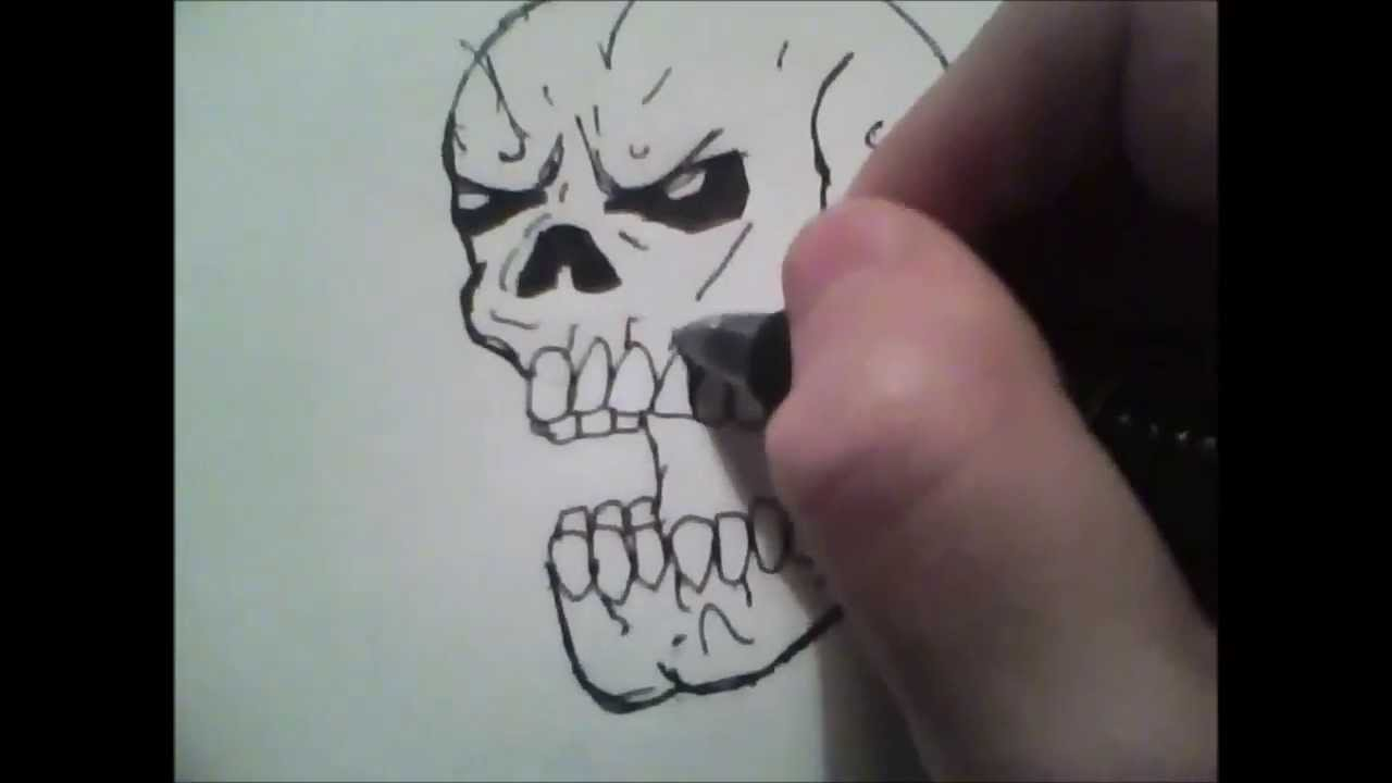 1280x720 How To Draw A Basic Skull For Beginners
